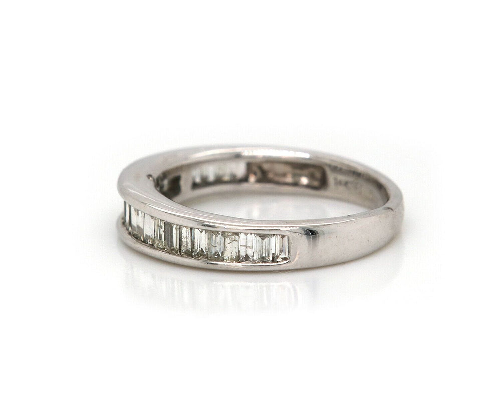 0.50ctw Baguette Diamond Wedding Band Ring in 14K