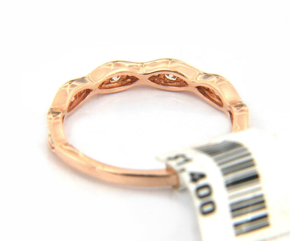New 0.37ctw Diamond Wave Style Anniversary Band Ring in 14K
