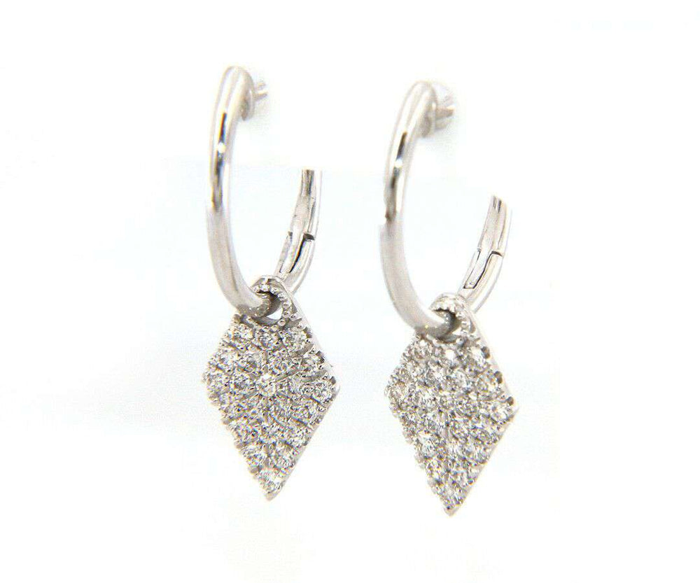 New From Gabriel & Co: 0.34ctw Diamond Pave Kite Shaped Dangle Earrings in 14kt