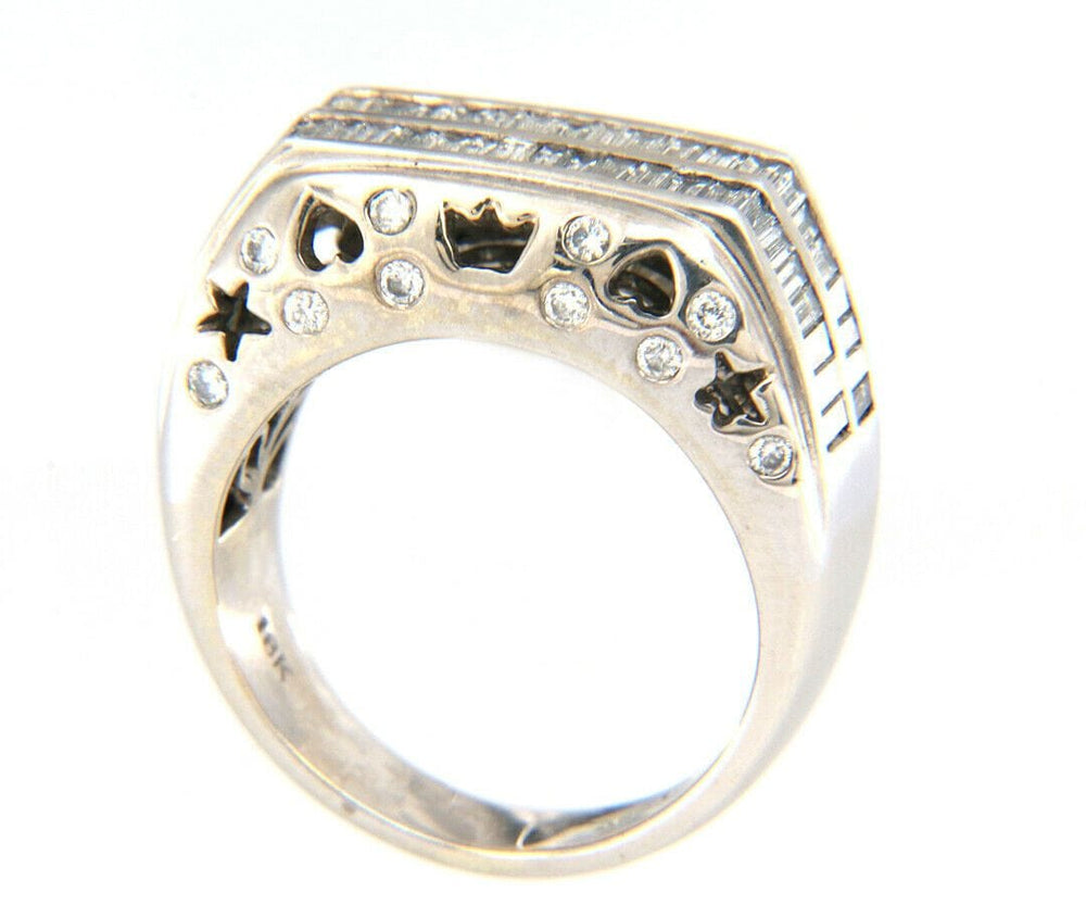 Le Vian 0.75ctw Baguette and Round Diamond Double Row Ring in 18K