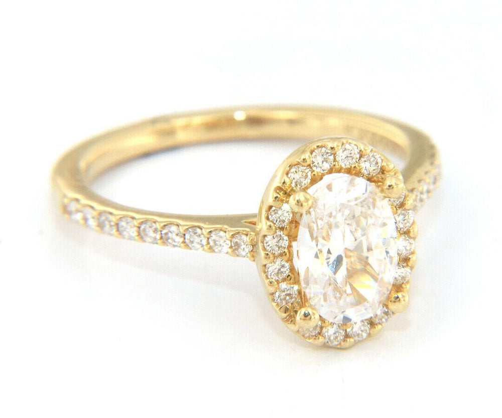 New Gabriel & Co. Oval Diamond Halo Semi Mount Ring in 14K