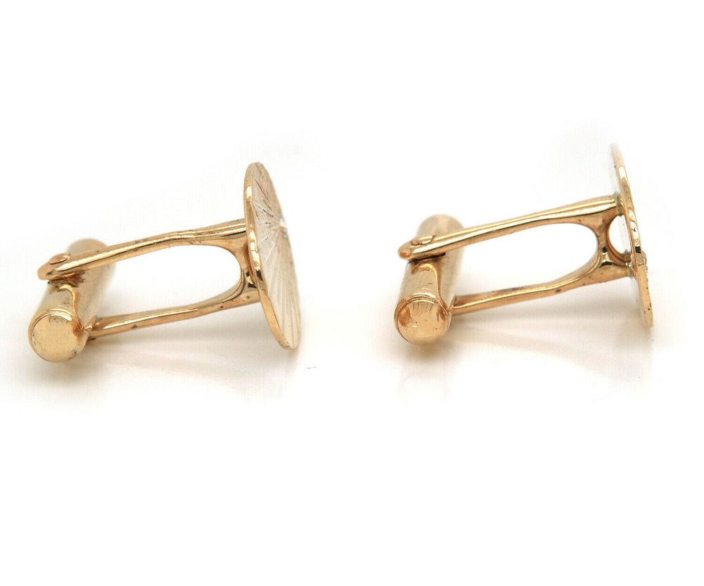 diamond oval cufflinks