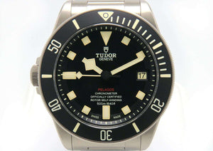 Tudor Pelagos 25610TNL Titanium Left Hand Watch w/ Box & Papers