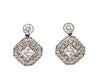 Diamond Dangle Earrings 14K White Gold with 2.0 Ctw Diamonds, Certified
