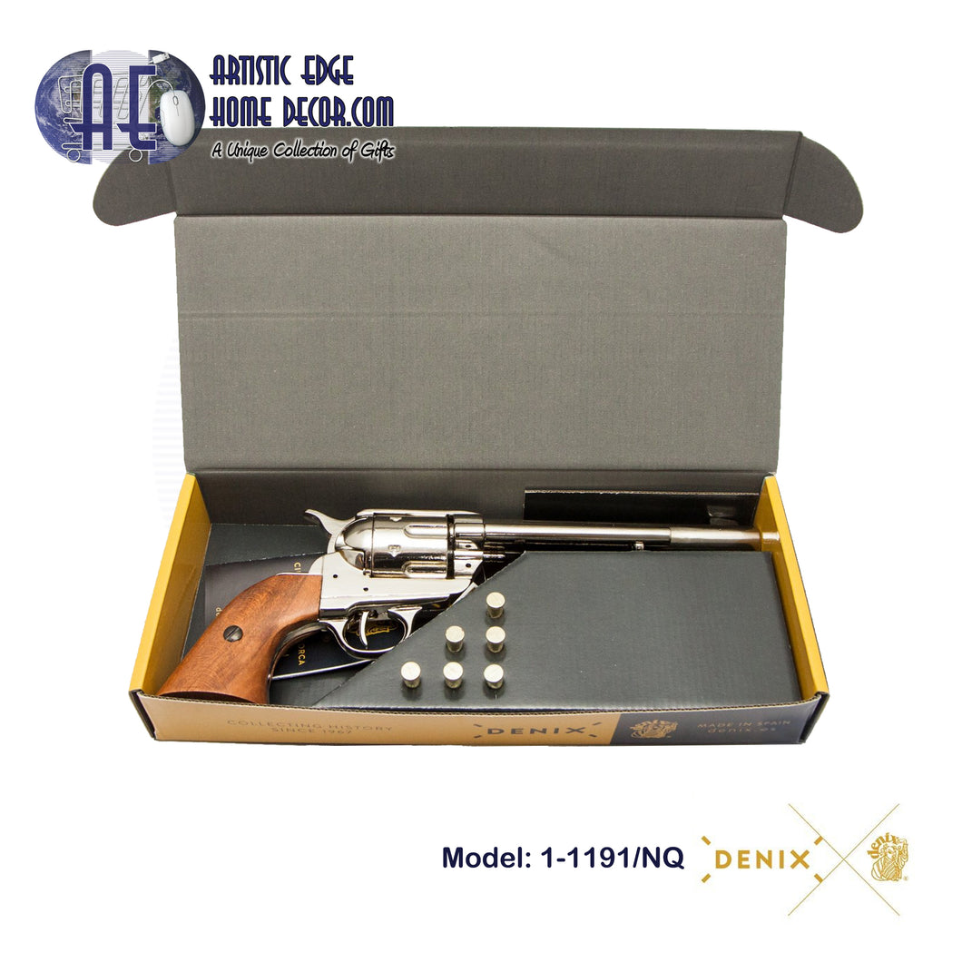 "Denix Replica .45 Cal. Peacemaker 7.5"" Single Action Army, Cavalry Revolver, USA 1873  Gift Box"