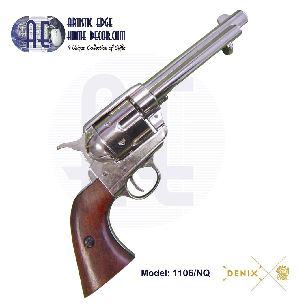 "Denix Replica .45 Cal. Peacemaker 5.5"" Single Action Army, Artillery Revolver, M1873"