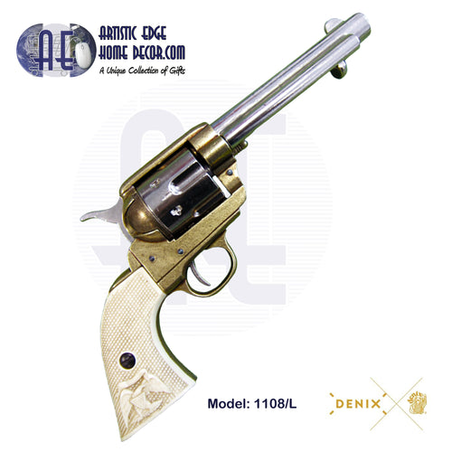 "Denix Replica .45 Cal. Peacemaker 5.5"" Single Action Army, Fast Draw Revolver, USA 1873"