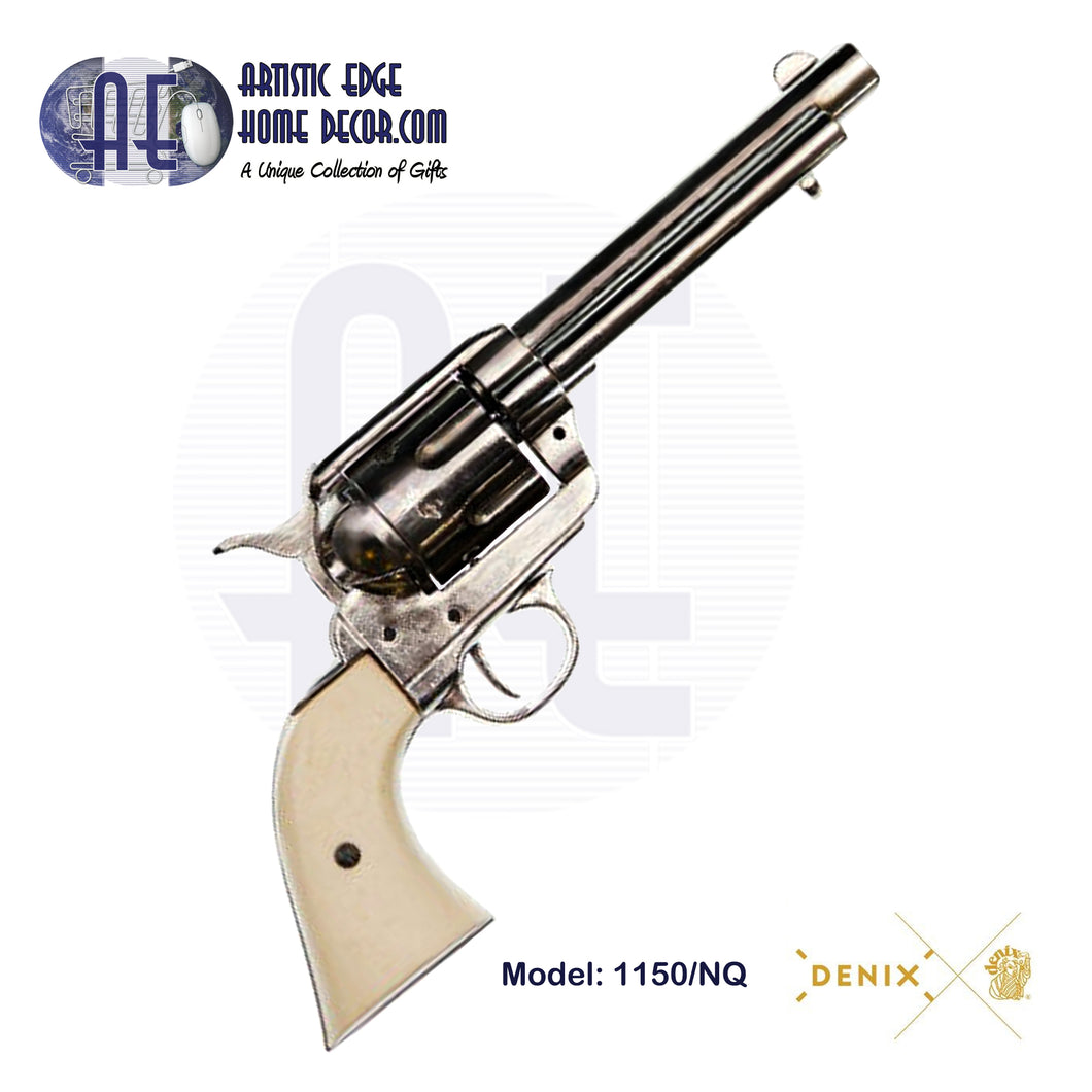 "Denix Replica .45 Cal. Peacemaker 5.5"" Single Action Army, Artillery Revolver, USA 1873"
