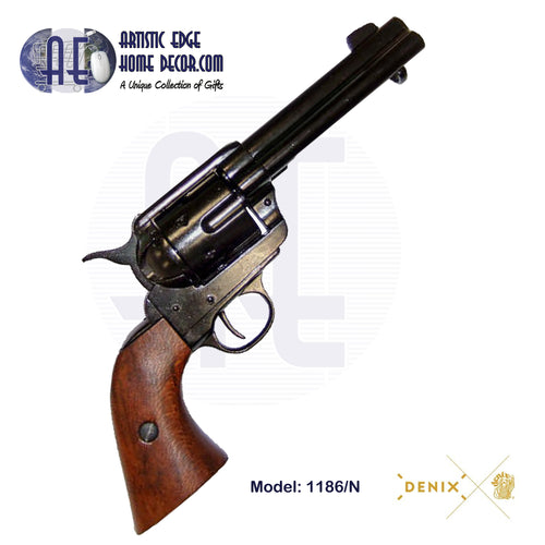 "Denix Replica .45 Cal. Peacemaker 4.75"" Single Action Army, Fast Draw Revolver, USA 1873"