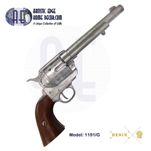 "Denix Replica .45 Cal. Peacemaker 7.5"" Single Action Army, Cavalry Revolver, USA 1873"