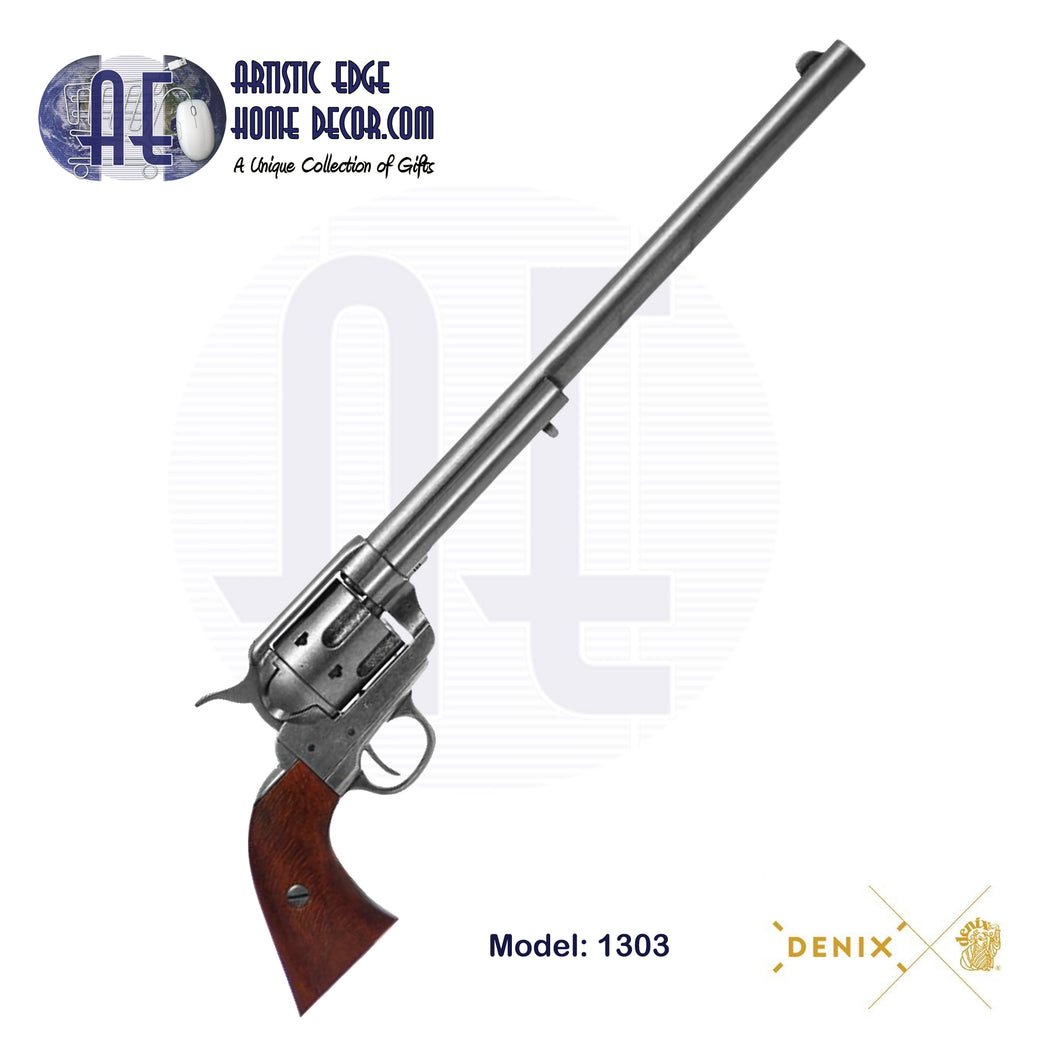"Denix Replica .45 Cal. Peacemaker 12"" Single Action Army, Buntline Special Revolver, USA 1873"