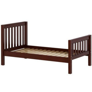 Maxtrix Twin Traditional Bed with Low Bed End