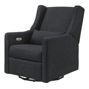 Babyletto Kiwi Electronic Recliner & Swivel Glider with USB Port Coal Grey