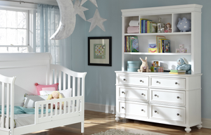 LC Kids Madison NURSERY BOOKCASE/HUTCH WITH DRESSER