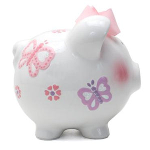 Child To Cherish Butterfly Piggy Bank