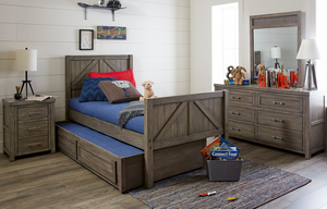 LC Kids Bunkhouse MID LOFT BED, TWIN 3/3