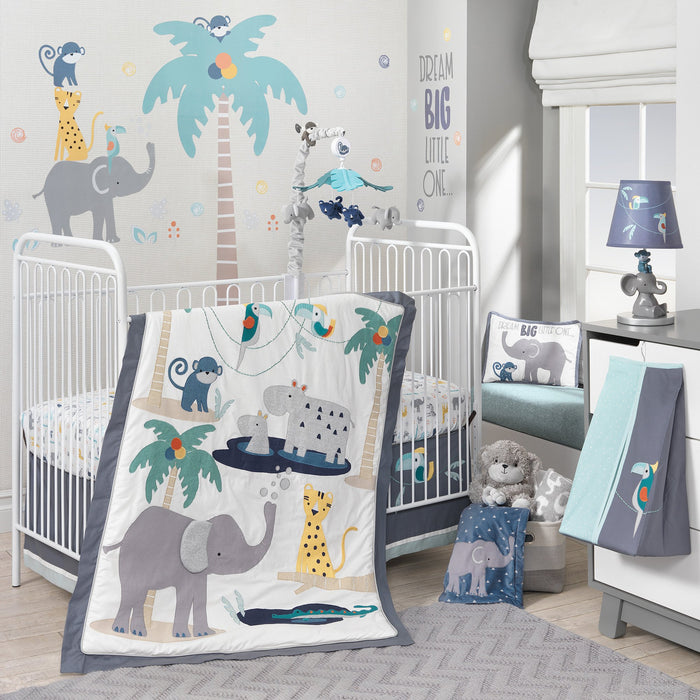 Lambs & Ivy Animal Crackers 4 Piece Crib Bedding Set