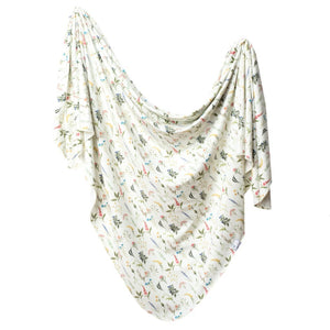 Copper Pearl Knit Swaddle Blanket - Aspen