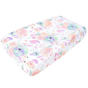 Copper Pearl Diaper Changing Pad Cover - Bloom