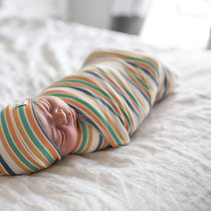 Copper Pearl Knit Swaddle Blanket - Retro