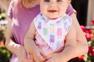 Copper Pearl Baby Bandana Bibs - Summer Collection (each sold separately)