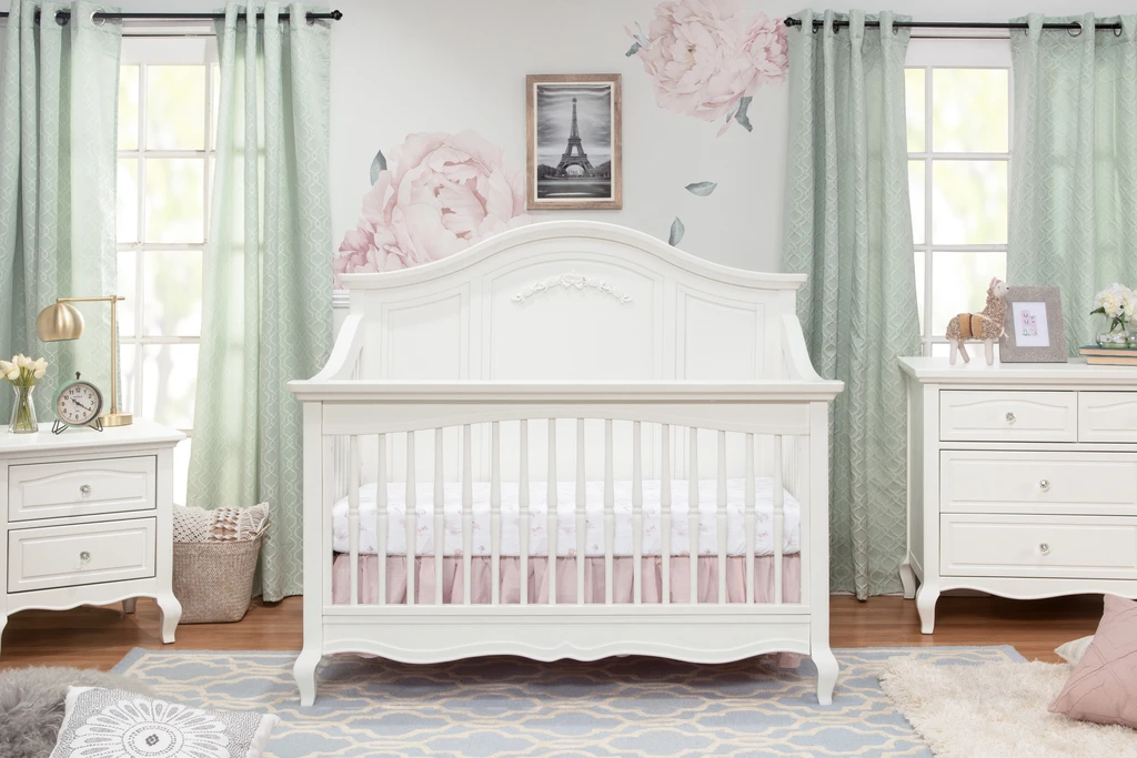 Franklin & Ben  Mirabelle 4-in-1 Convertible Crib Warm White