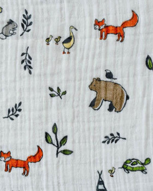 Little Unicorn Cotton Muslin Swaddle Single - Forest Friends