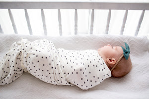 Copper Pearl Knit Swaddle Blanket - Willow