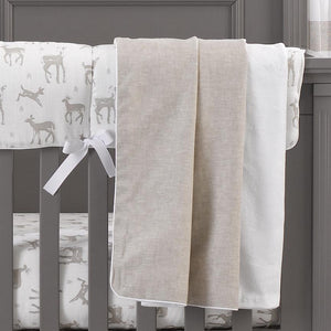 Liz & Roo Flax Linen Oversized Cuddle Fleece Blanket