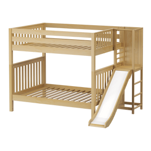 Maxtrix Full High Bunk Bed with Slide Platform