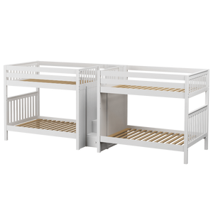 Maxtrix Full High Quadruple Bunk Bed with Stairs