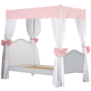 Maxtrix Twin Poster Bed with Canopy