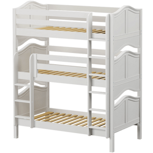 Maxtrix Twin Triple Bunk Bed with Ladder