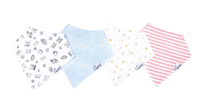 Copper Pearl Baby Bandana Bibs - Isla Collection (each sold separately)