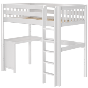 Maxtrix Twin High Loft Bed + Corner Desk