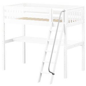 Maxtrix Twin High Loft Bed with Angled Ladder + Desk