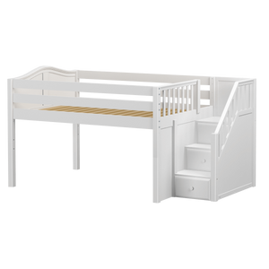 Maxtrix Full Low Loft Bed with Stairs