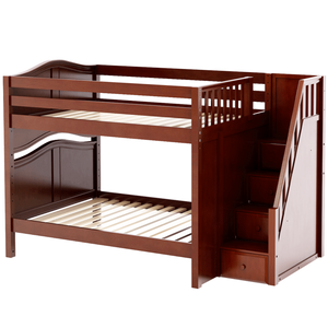 Maxtrix Full Curved Bunk Bed with Stairs