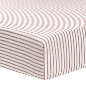 Liz & Roo Red Classic Stripe Crib Sheet