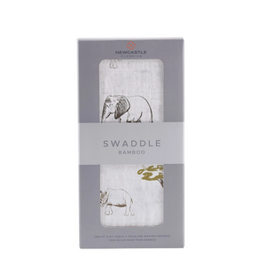 Newcastle Classics Swaddle Rhinos and Elephants