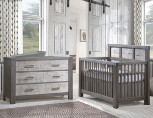 Rustico Moderno ''5-in-1'' Convertible Crib with Wood Panel