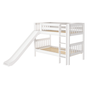 Maxtrix Twin Low Bunk Bed with Slide