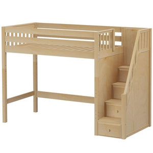 Maxtrix Twin XL High Loft Bed with Stairs