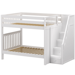 Maxtrix Full High Bunk Bed with Stairs
