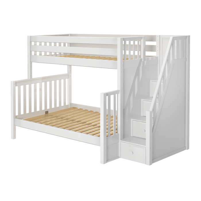 Maxtrix High Twin XL over Full XL Bunk Bed with Stairs