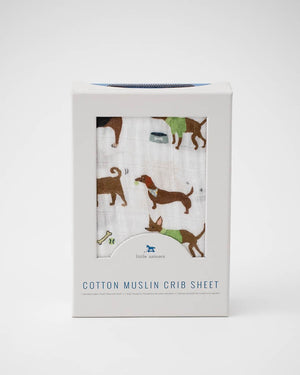 Little Unicorn Cotton Muslin Crib Sheet - Woof