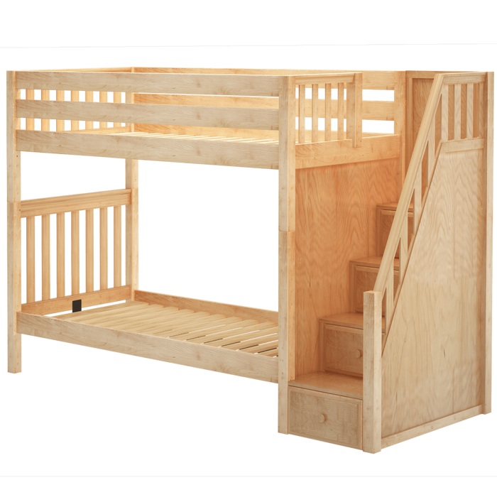 Maxtrix Twin XL High Bunk Bed with Stairs