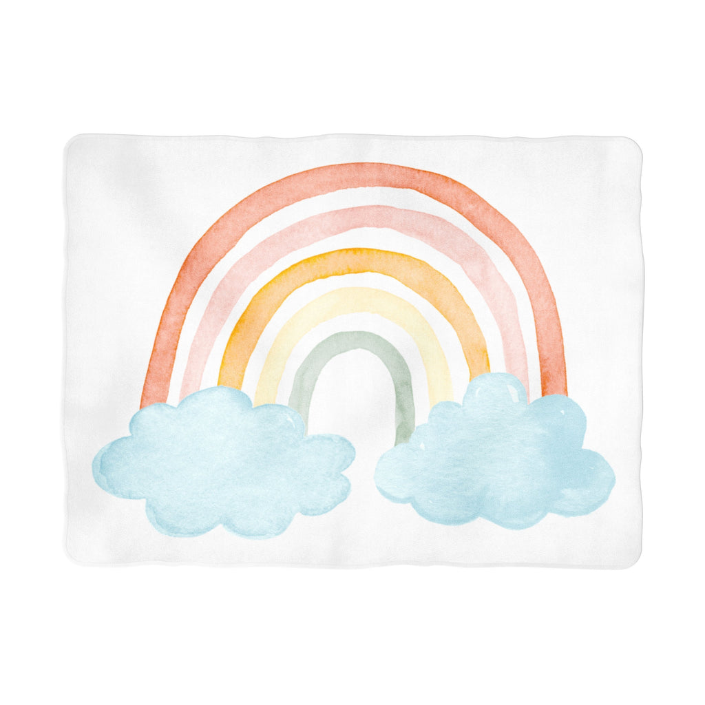 Sugar + Maple Colorful Rainbow Milestone Background Blanket