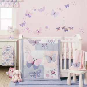 Lambs & Ivy Bedtime Original Butterfly Meadow 3 Piece Crib Bedding Set