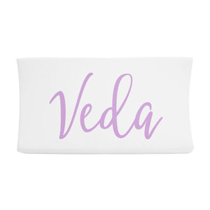 Sugar + Maple Changing Pad Cover - Centered Name